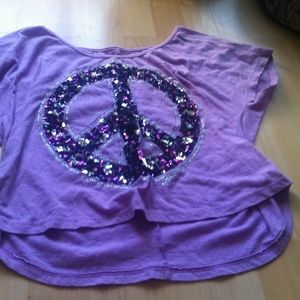 Justice Shirts & Tops - Girls Size L Justice Purple crop top